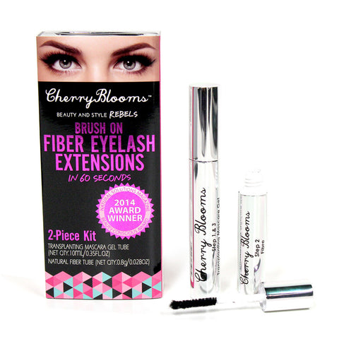 Cherry Blooms Brush on Fiber Lashes