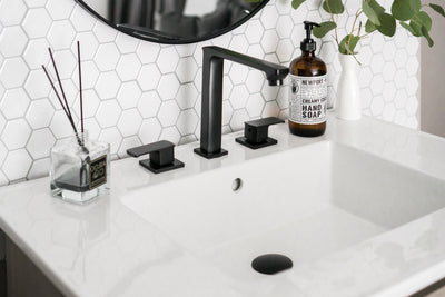Ceramic Vanity Top with Integrated Sink