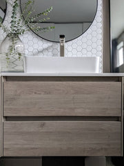 "Zeek Ares 36""x18"" Wall-Mounted Bathroom Vanity"