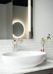 Zeek ZC215 20'' Oval Vessel Ceramic Bathroom Sink
