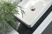 Zeek ZC214 Rectangle Vessel Ceramic Bathroom Sink