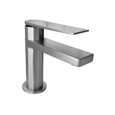Zeek F-BN87 Brushed Nickel Single Handle Bathroom Faucet
