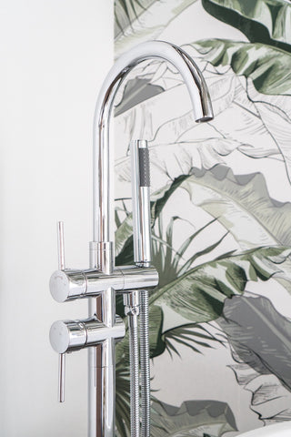 Zeek Floor Tub Filler Faucet Chrome F-TC50