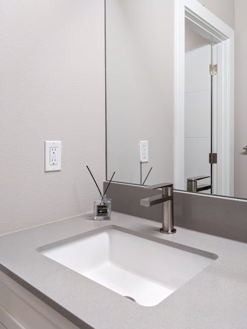 Zeek ZP-2015 Flat Bottom Large Rectangular U/M Bathroom Sink