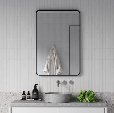 MB3624 Black Metal Thin Edge Wall Mirror