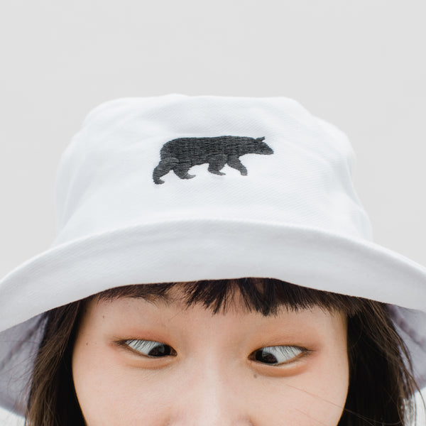 LET IT BEAR, BUCKET HAT (White)