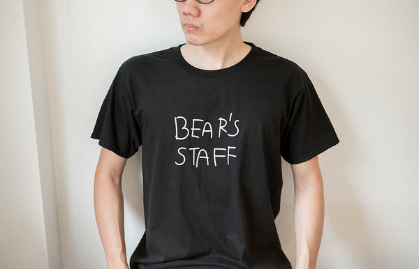 BEAR'S STAFF, Black t-shirt