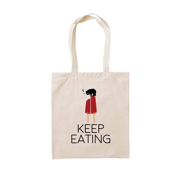 KEEP EATING, Changeable color tote bag