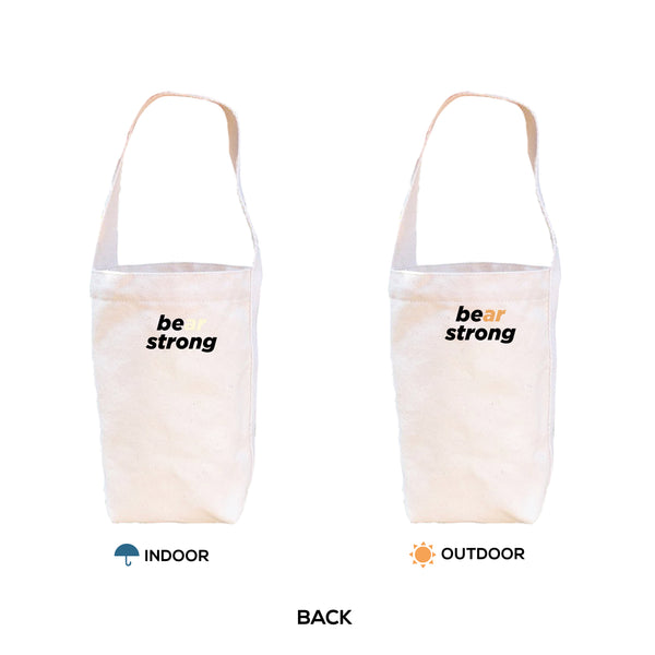BE(AR) STRONG, Changeable color tumbler-bag