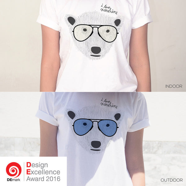 'BEAR LOVE SUNSHINE' Changeable color t-shirt