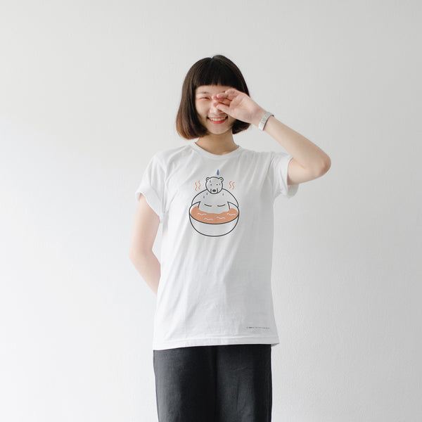 Let's relax?!, Changeable color t-shirt (WHITE)