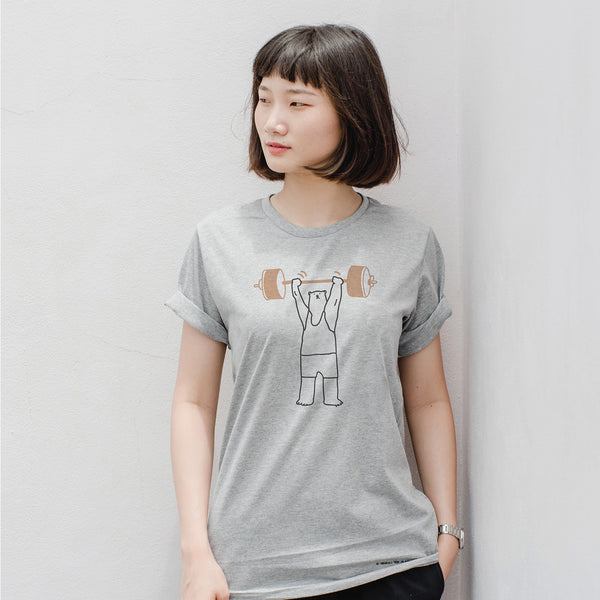 Be(ar) Strong, Changeable color t-shirt (GREY)