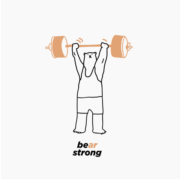 Be(ar) Strong, Changeable color t-shirt (WHITE)