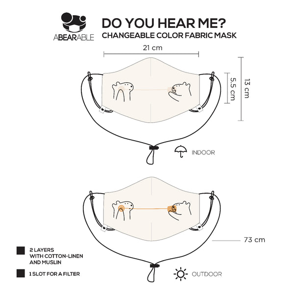 Do you hear me? - Changeable Color Fabric Mask