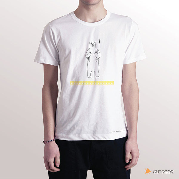PLEASE STAND BEHIND THE YELLOW LINE, Changeable color t-shirt