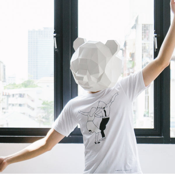 BA BA BEAR, Changeable color t-shirt (White)