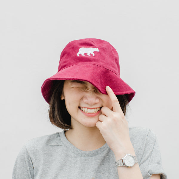 LET IT BEAR, BUCKET HAT (RED)