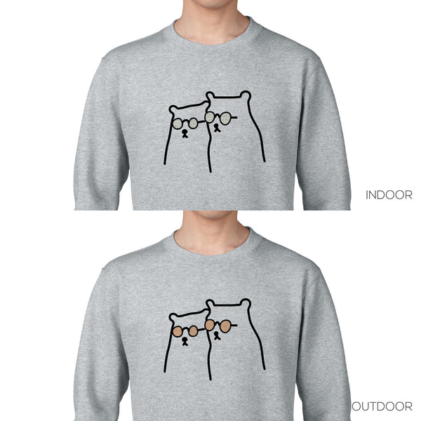 THE COOLEST BEARS IN TOWN, Changeable color sweatshirt