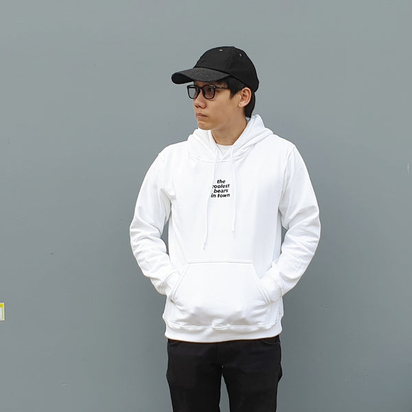 THE COOLEST BEARS IN TOWN, Changeable color hoodies (White)