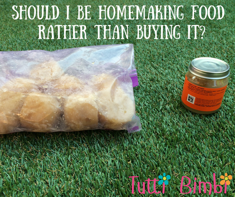 Should I homemake baby's food rather than buy it?