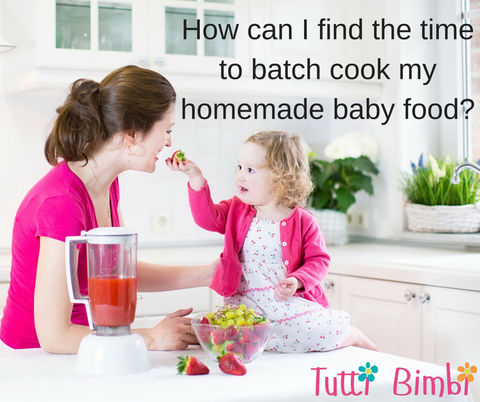 How can I find the time to batch cook my homemade baby food