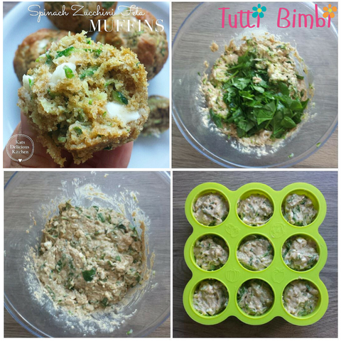 Spinach Zucchini Feta Muffins for Toddler & Family
