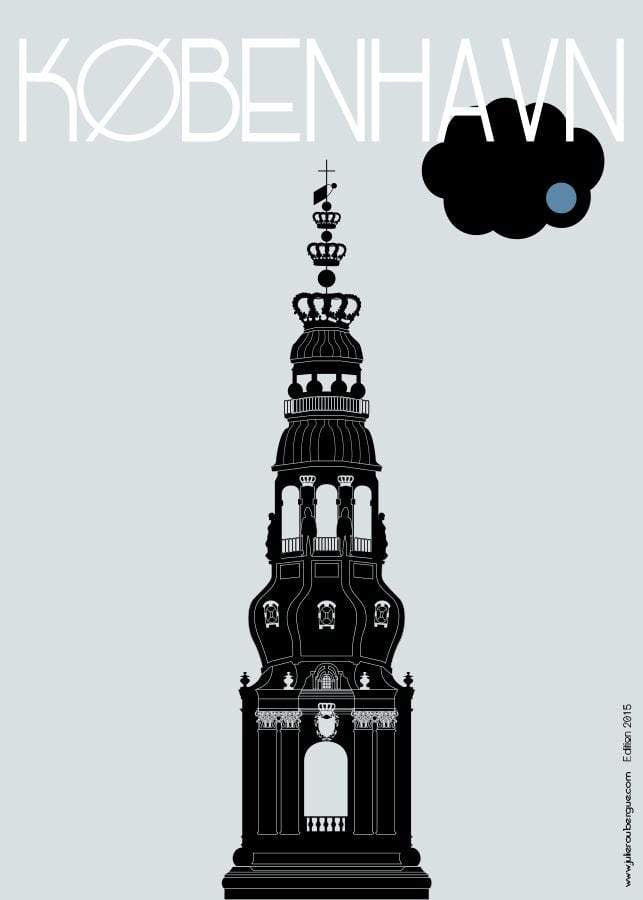 Affiche COPENHAGUE, Christiansborg