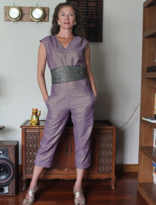 Gemma Jumpsuit in Amethyst