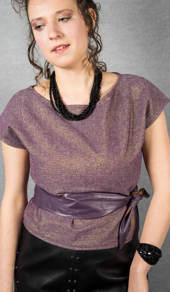 Boxy Top in Amethyst