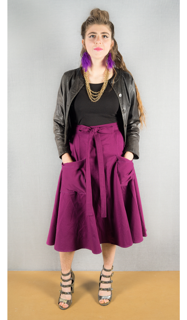 Wrap skirt in Fuchsia