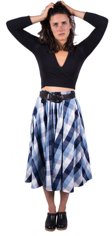 Flannel Gathered Skirt