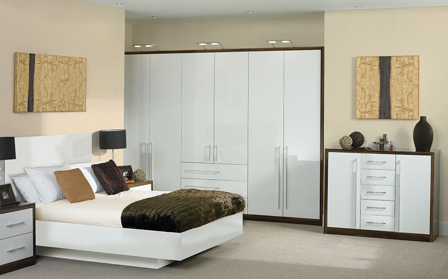 d2bd820e5 Bella High Gloss White Venice Bedroom