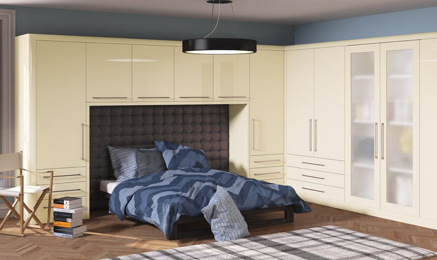 c2f39fc61 Bella High Gloss Cream Venice Bedroom
