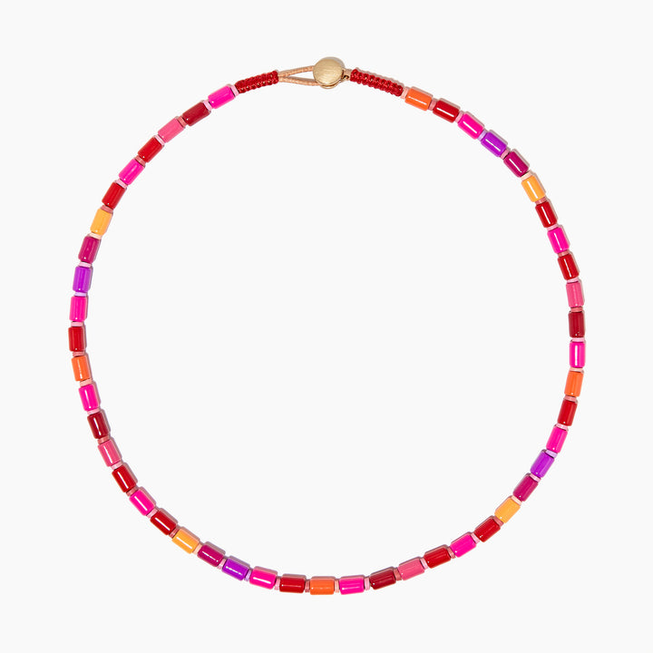 Extremely Pink U-Tube Necklace