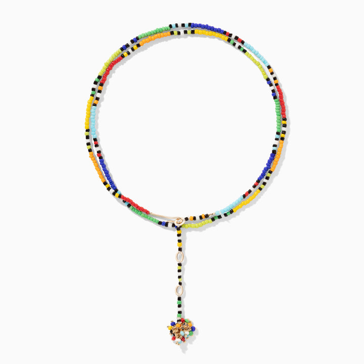 Rainbow Patchwork Necklace