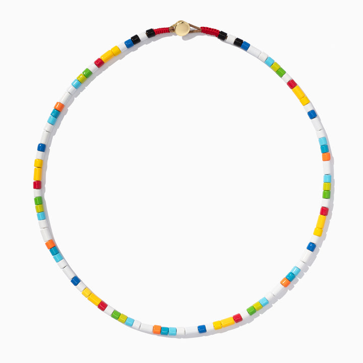 Tie Dye U-Tube Necklace