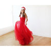 Bridesmaid Dresses - Shop Red straps maxi tulle dress 1053 from Style&Pose online