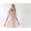 Bridesmaid Dresses - Shop Pink dots sheer chiffon maxi dress with bat wings sleeves from Style&Pose online