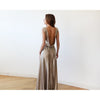 Bridesmaid Dresses - Shop Sleeveless Gold Open-Back Maxi Dress 1127 from Style&Pose online