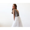 Bridesmaid Dresses - Shop Silver Sequins and Tulle Maxi Gown 1094 from Style&Pose online