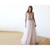 Bridesmaid Dresses - Shop Pink Sequins and Tulle Maxi Gown 1094 from Style&Pose online