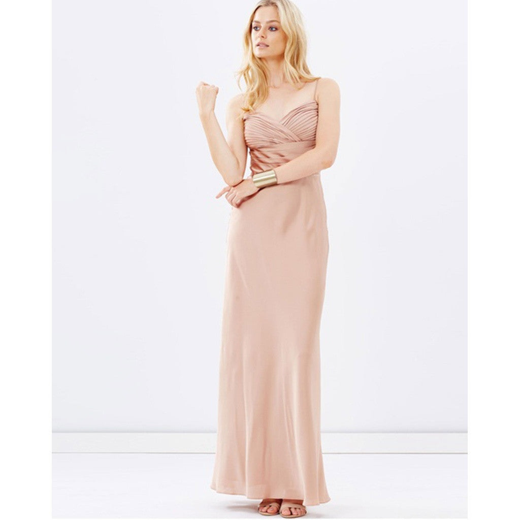 Bridesmaid Dresses - Shop Satin Evening Dress - Champagne from Style&Pose online