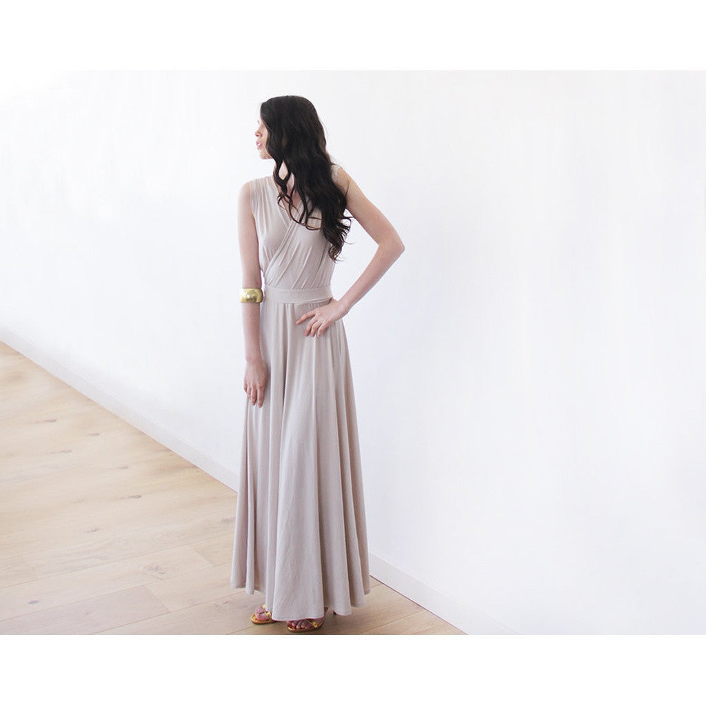 Bridesmaid Dresses - Shop Champagne Formal Maxi Dress with front slit 1028 from Style&Pose online