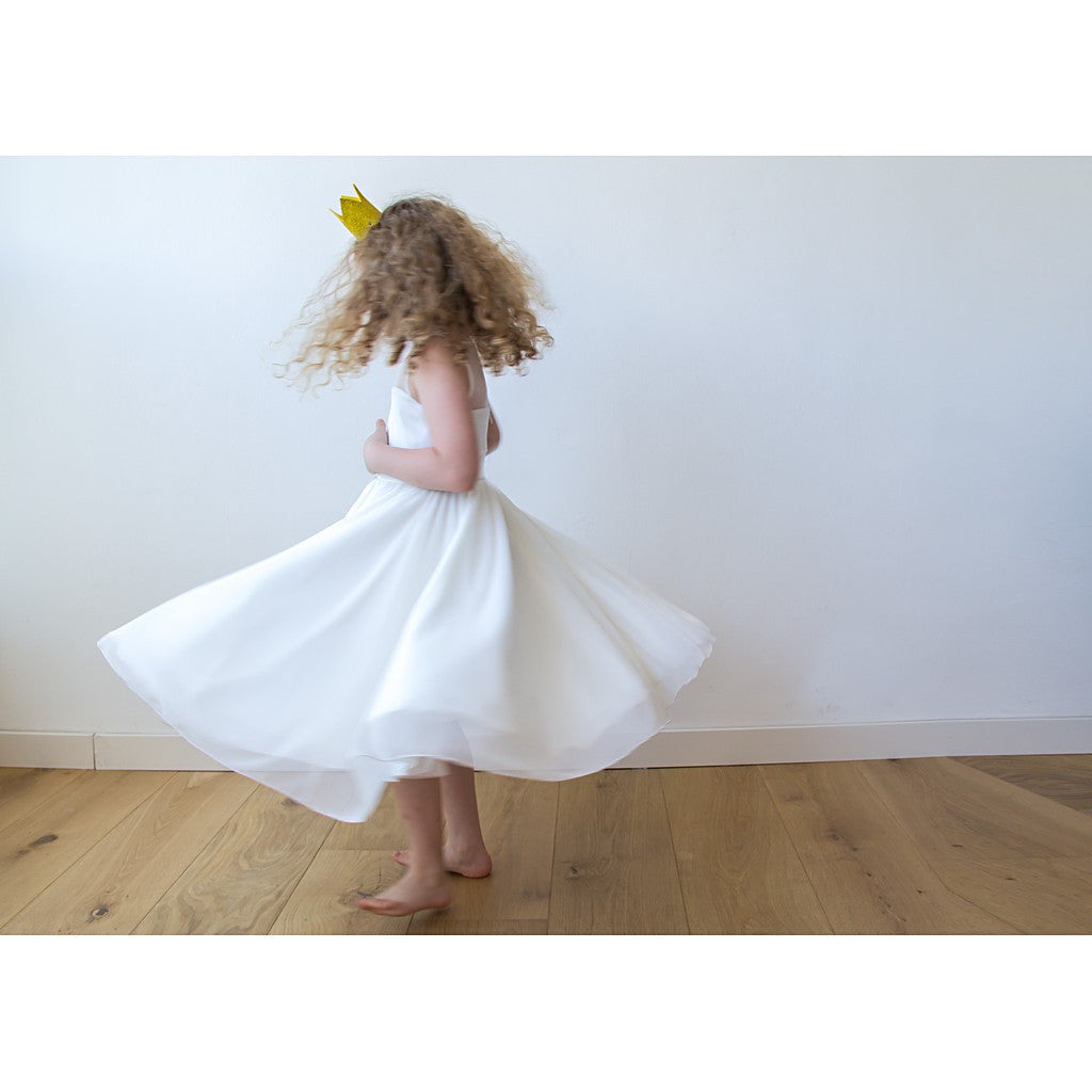 Children - Girls - Apparel - Shop Ivory sweetheart illusion girl dress with tulle from Style&Pose online