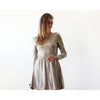 Dresses - Shop Open back Metallic gold mini dress with long sleeves SALE 1042 from Style&Pose online