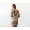 Dresses - Shop Sparkling pink sequins mini dress with open back 1132 from Style&Pose online