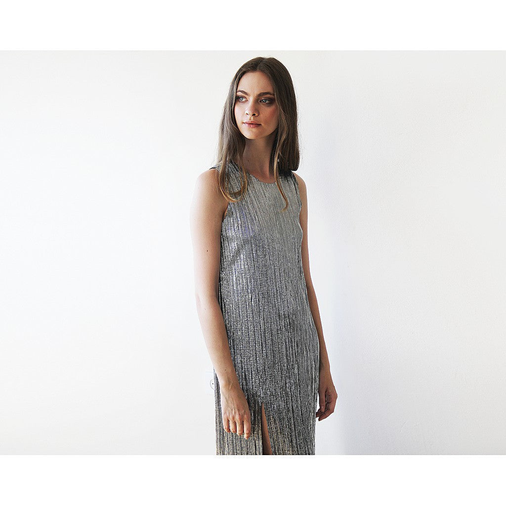 Dresses - Shop Silver Maxi Dress, Sparkly Dress, Tunic Dress ,Glitter Tunic Dress , Metallic Dress, New Year Dress from Style&Pose online
