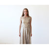 Dresses - Shop Gold Sleeveless Midi Dress With Open Back from Style&Pose online