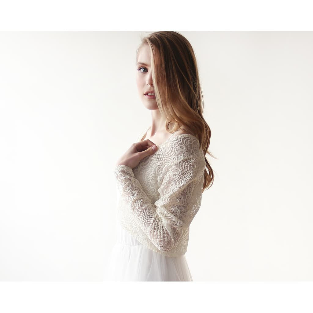Wedding Dresses - Shop Bridal lace long sleeves bolero from Style&Pose online