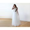 Women - Apparel - Bridal - Shop Sleeveless Silver Sequins Maxi Tulle Dress with Open-Back 1099 from Style&Pose online